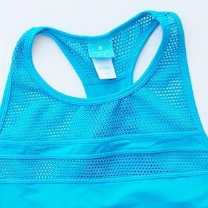 COASTAL BLUE Mesh Swimsuit Cover T-Tank Dress
